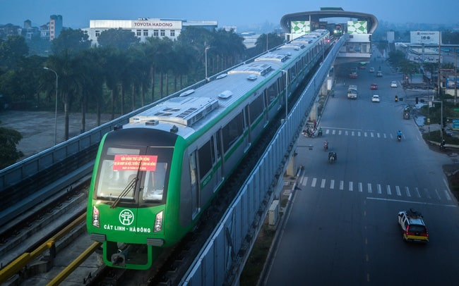 Tàu điện trên cao Cát Linh - Hà Đông