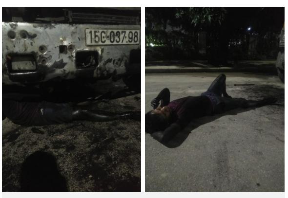 Hình ảnh thợ sửa ô tô dầu mỡ đen thui nằm nhoài người dưới gầm xe trong đêm khiến nhiều người xót xa