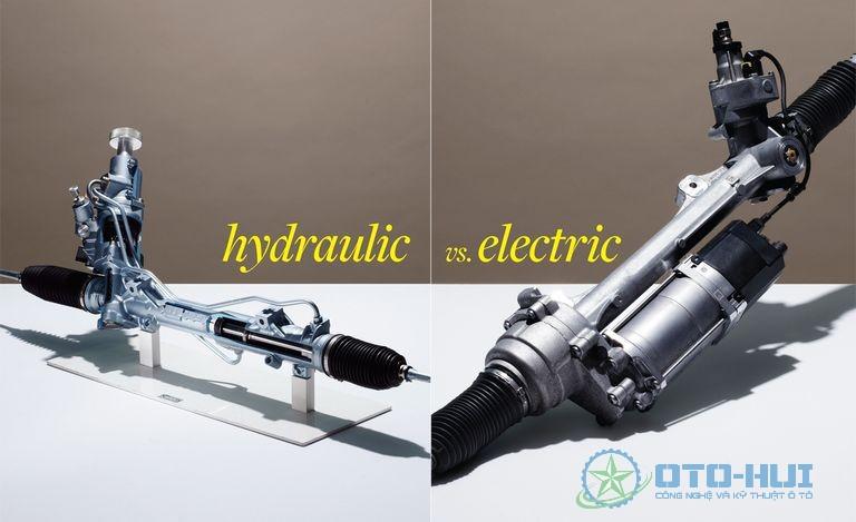 So sánh trợ lực lái điện với thủy lực