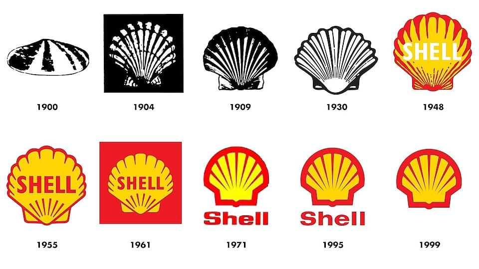 Logo hãng dầu nhớt Shell thay đổi qua từng năm
