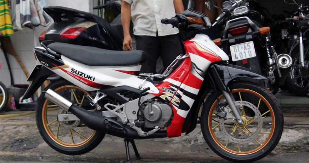 Suzuki Satria 120 lần đầu ra mắt thị trường Indonesia vào năm 1998