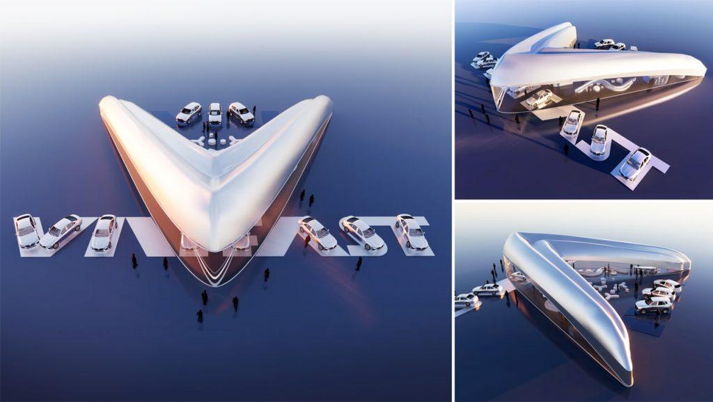 Toàn cảnh không gian showroom VinFast trong tác phẩm đạt giải nhất của nhà thiết kế Vicky Daroca (Mỹ)