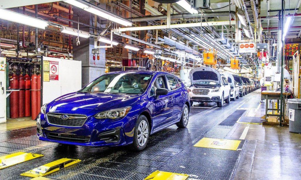 Nhà máy Subaru tạm ngưng hoạt động đến hết tháng 4 vì thiếu chip