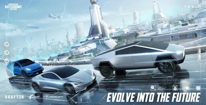 Xe Tesla xuất hiện trong game PUBG Mobile có tính năng tự lái như đời thật.