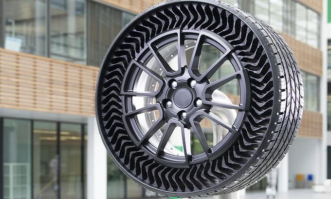 Thiết kế lốp Uptis của Michelin, loại lốp xe không cần bơm hơi. Ảnh: Michelin